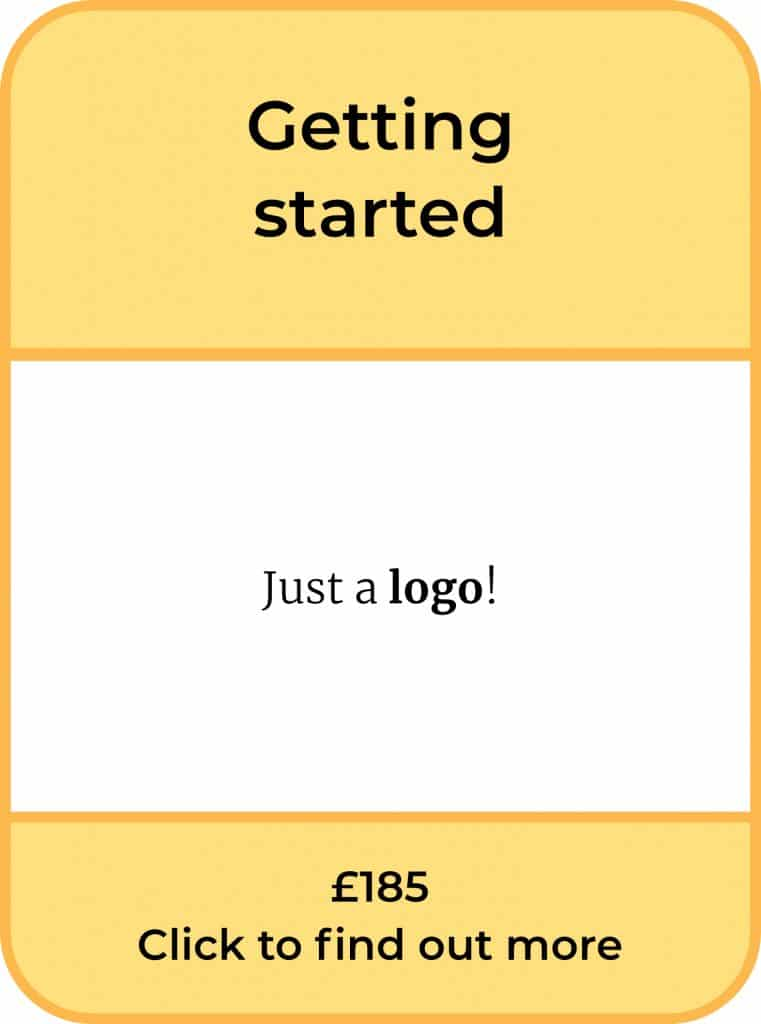 The Getting Started Package. Just a logo. £185