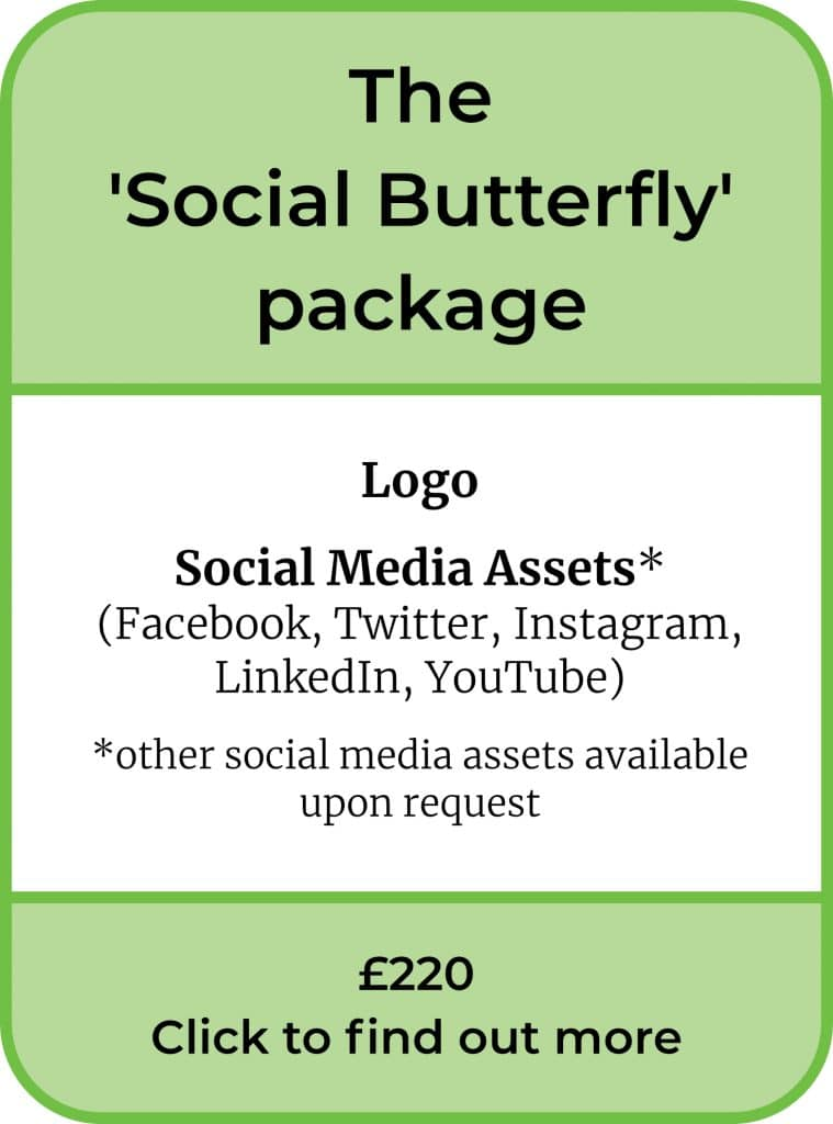 The Social Butterfly Package. Logo and Social Media assets. £220